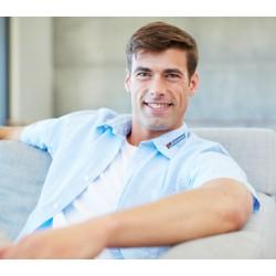 """Men's shirt """"POPLIN"""" short sleeve"""