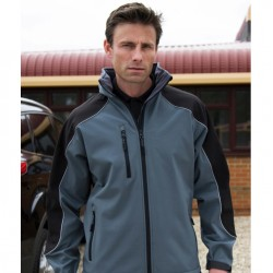 "Hooded Softshell Jas ""WORKWEAR"""